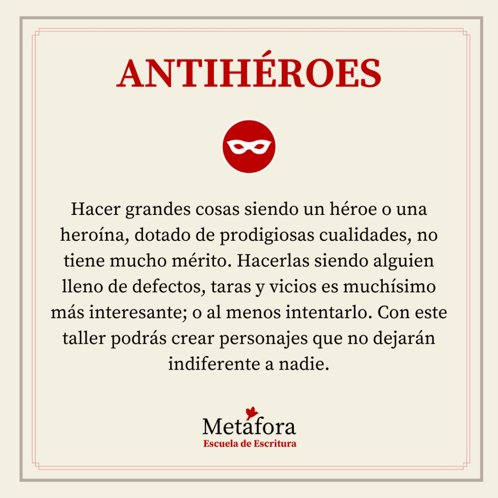 TALLER DE ANTIHÉROES