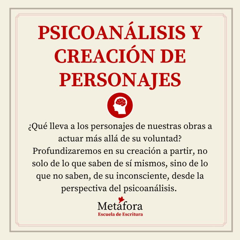 PSICOANÁLISIS Y CREACIÓN DE PERSONAJES