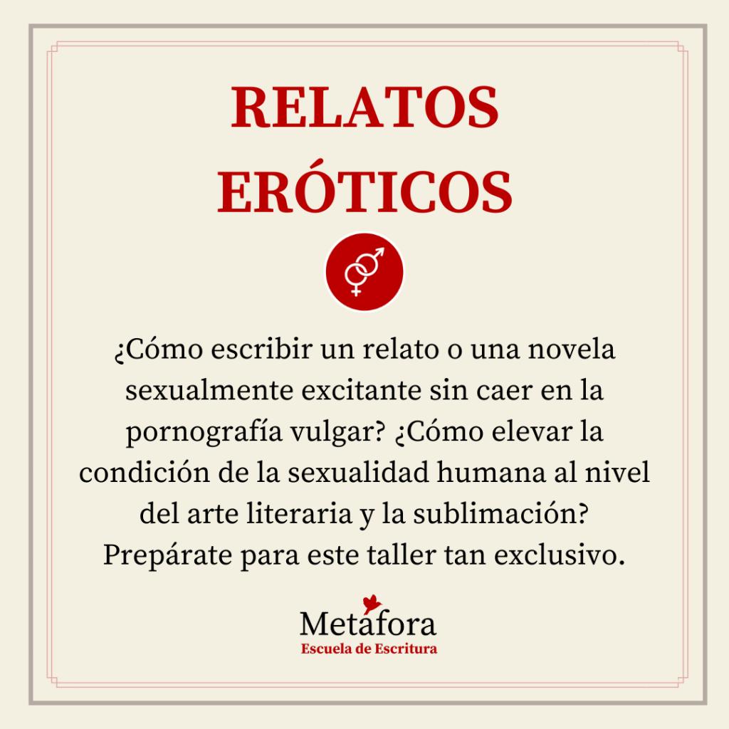 TALLER DE RELATOS ERÓTICOS