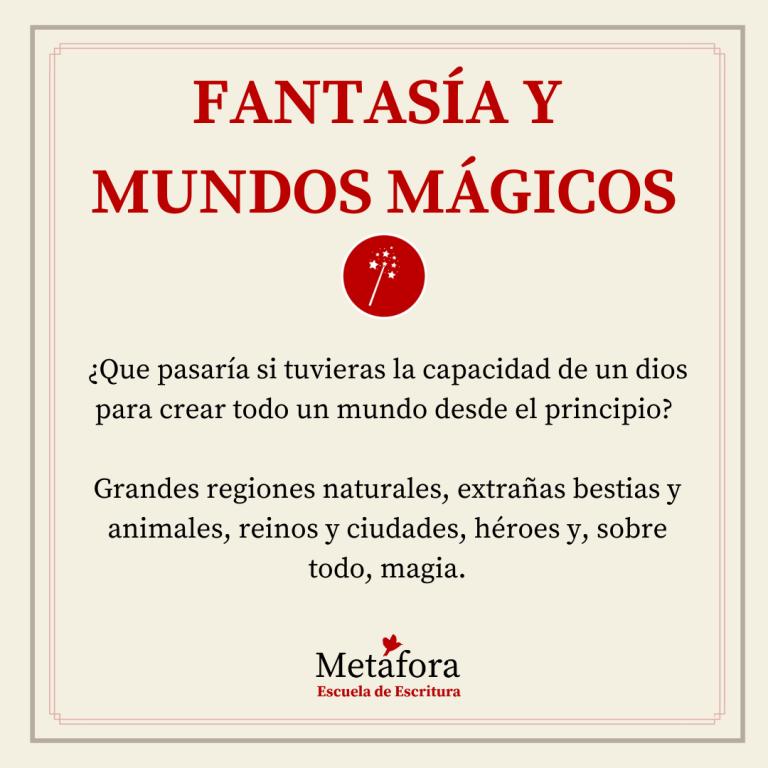 TALLER DE FANTASÍA Y MUNDOS MÁGICOS